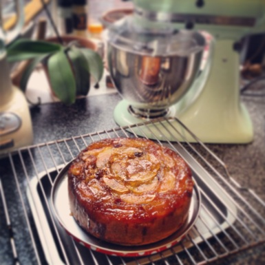 Toffee Apple Upside Down Cake