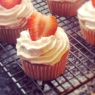 Strawberry & Cream Cupcake