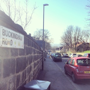 The street I lived on when I met The Boy