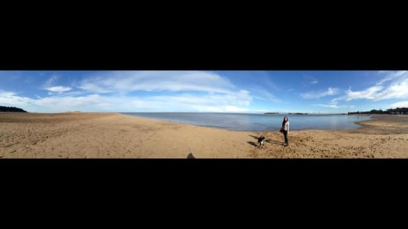 Wells beach panoramic