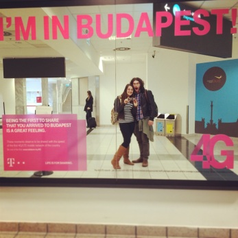 Arriving in Budapest!