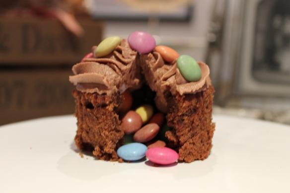 Smarties cupcakes